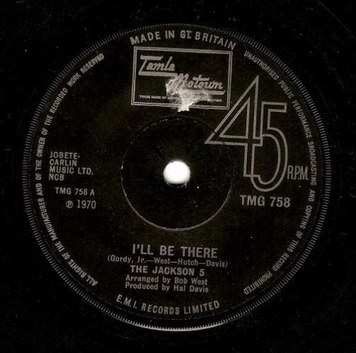 THE JACKSON 5 (FIVE) I'll Be There Vinyl Record 7 Inch Tamla Motown 1970